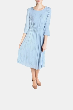 Shoptiques Product: Dreamy Blue Embroidered Dress