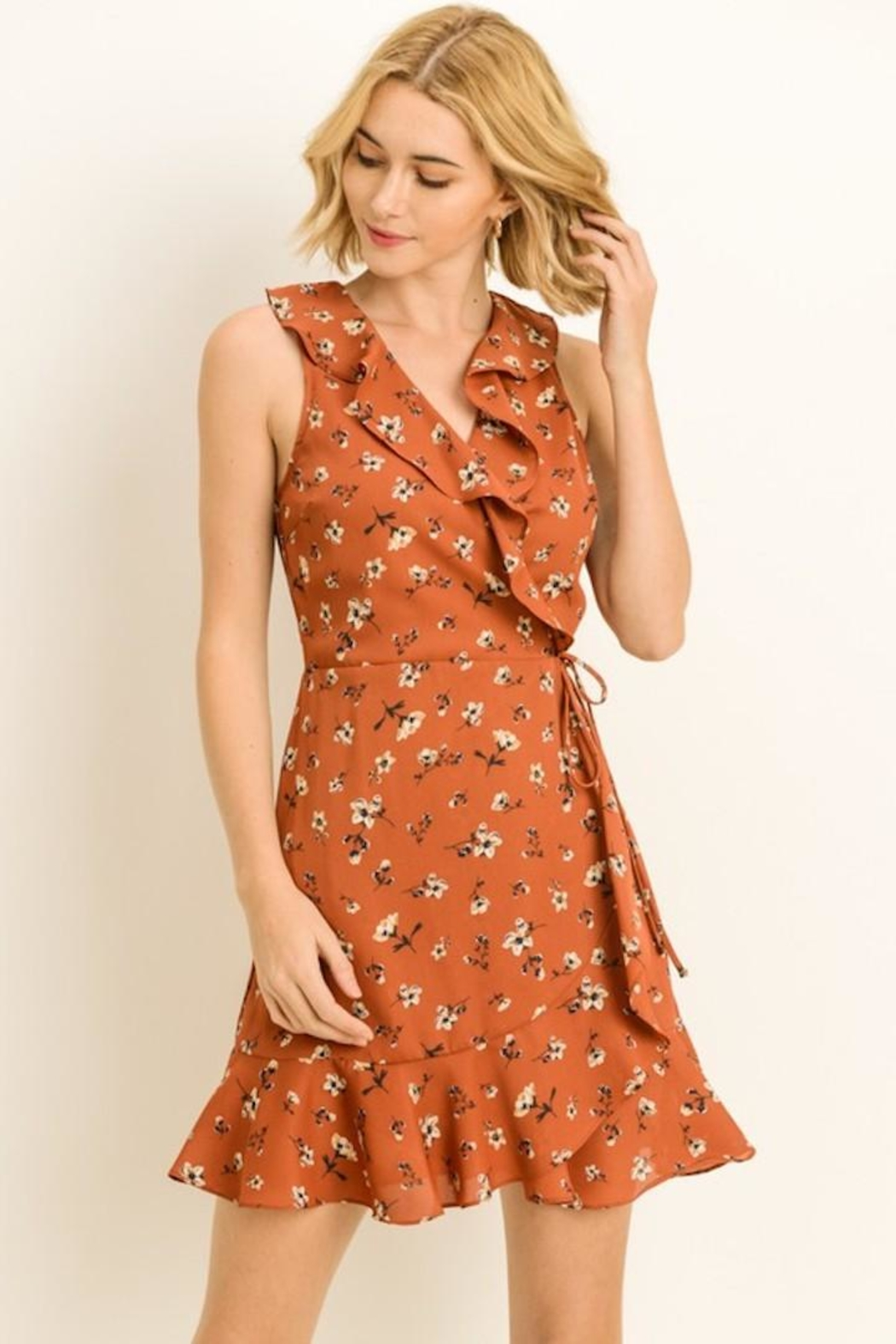 Le Lis Fall Wrap Dress Front Cropped Image