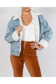 Le Lis Faux-Fur Denim Jacket - Product Mini Image