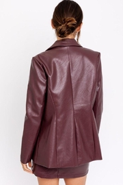 Le Lis Faux Leather One Button Blazer - Other