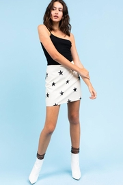 Le Lis Faux-Leather Star Skirt - Product Mini Image