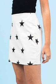 Le Lis Faux-Leather Star Skirt - Side cropped