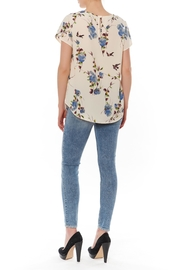 Le Lis Floral Birds Blouse - Front full body