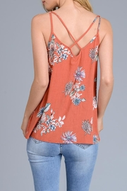Le Lis Floral Crimp Tank - Front full body