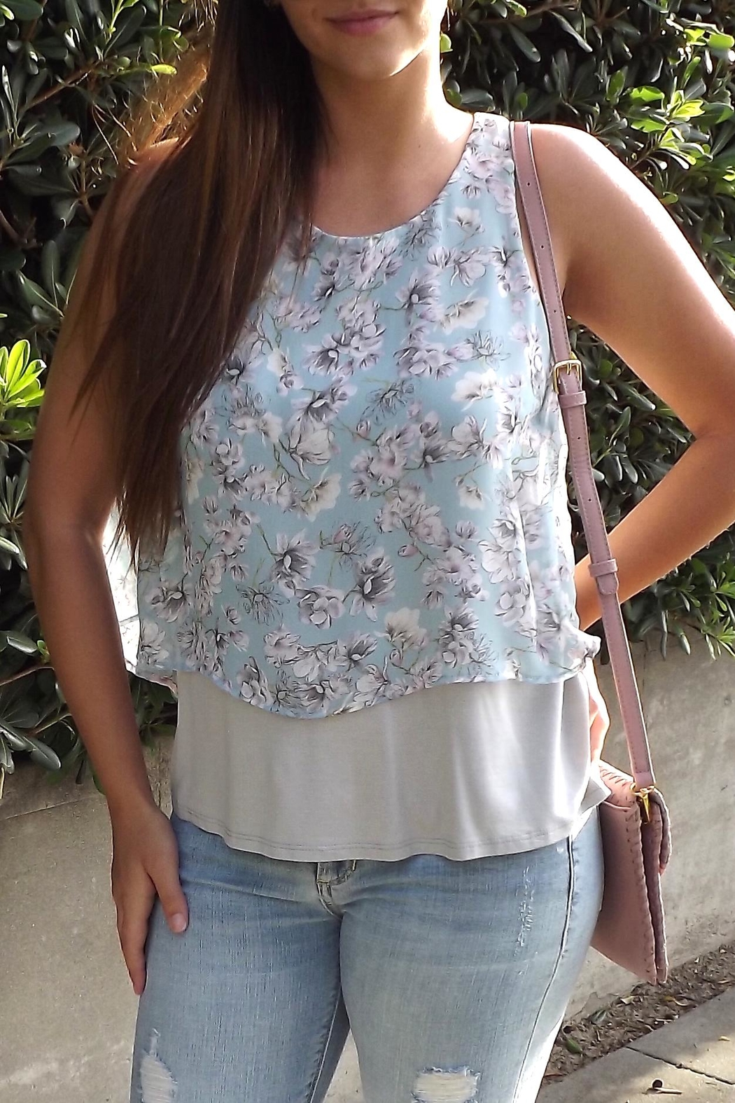 Le Lis Floral Layers Top - Front Full Image