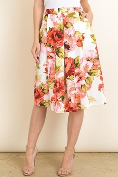Le Lis Floral Midi Skirt - Alternate List Image