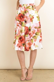 Le Lis Floral Midi Skirt - Side cropped