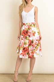 Le Lis Floral Midi Skirt - Product Mini Image