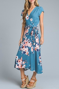 Shoptiques Product: Floral Midi Wrap-Dress
