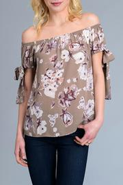 Le Lis Floral Off Shoulder Top - Product Mini Image