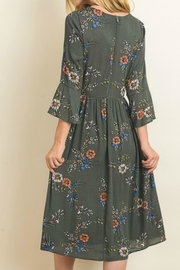 Le Lis Floral Peasant Dress - Front full body