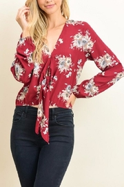 Le Lis Floral Tie Top - Product Mini Image