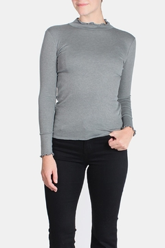 Le Lis Frilled Mock Neck Shirt - Product List Image