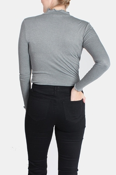 Le Lis Frilled Mock Neck Shirt - Alternate List Image