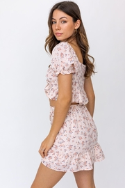 Le Lis Front Tie Floral Top - Other