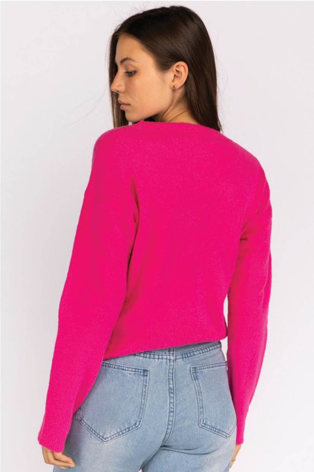 Le Lis Front Twist Sweater - Front Full Image