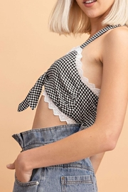 Le Lis Gingham Cropped Top - Back cropped