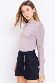 Le Lis Glitter Mock-Neck Top - Front cropped