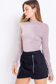 Le Lis Glitter Mock-Neck Top - Front full body