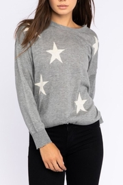 Le Lis Gray Star Sweater - Product Mini Image