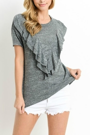Le Lis Heathered Ruffle Tee - Product Mini Image