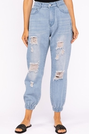 Le Lis High-Rise Denim Jogger - Product Mini Image