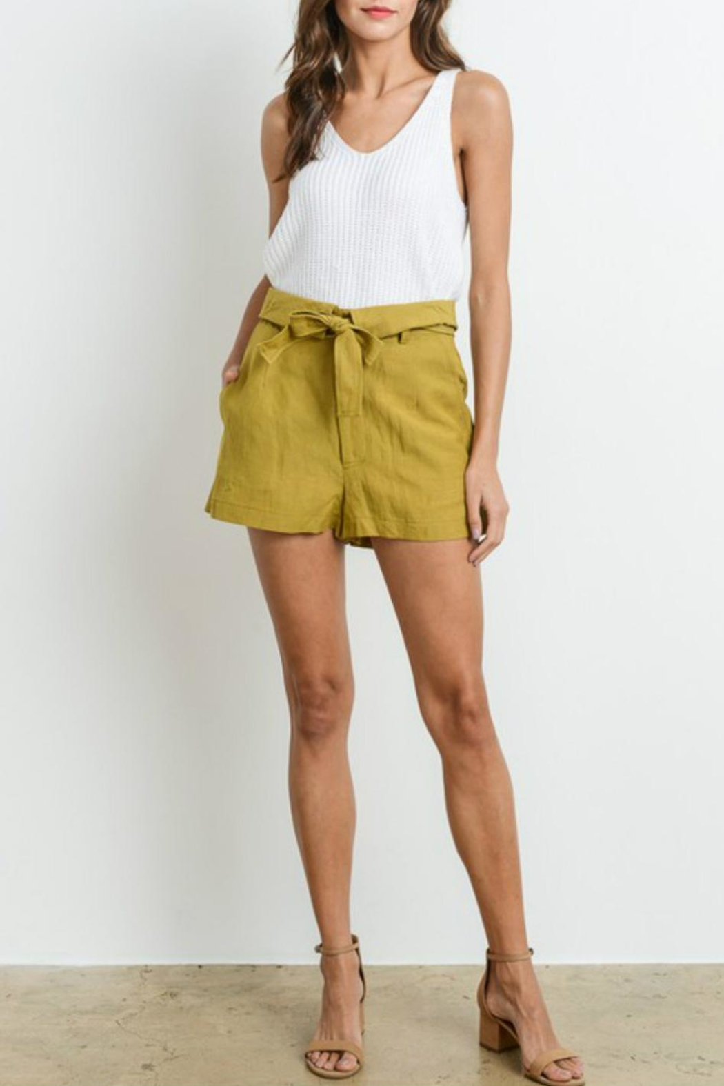 Le Lis High-Waist Belted Shorts - Main Image
