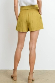 Le Lis High-Waist Belted Shorts - Back cropped
