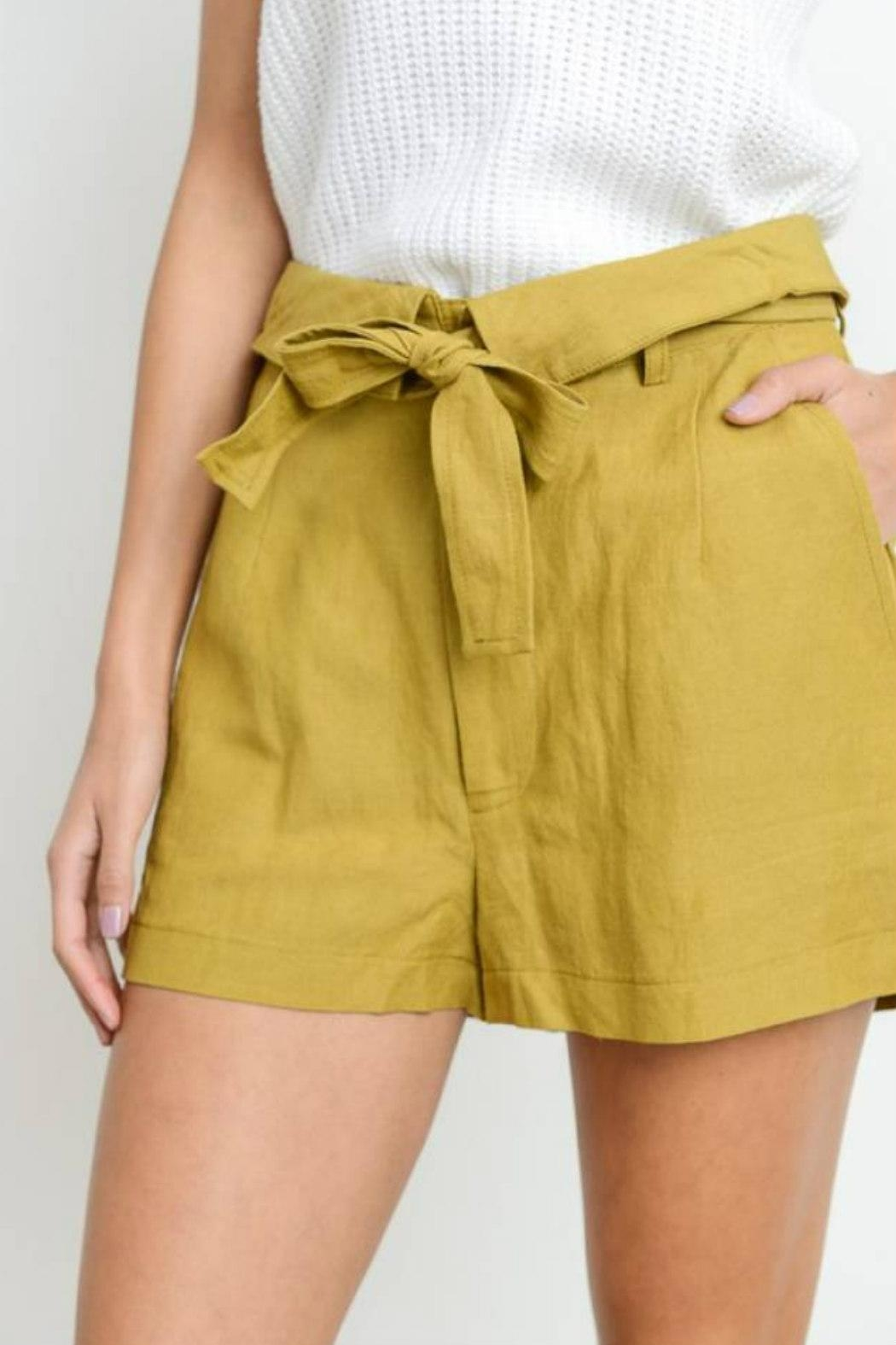 Le Lis High-Waist Belted Shorts - Front Full Image