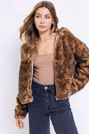 Le Lis Hoodie Faux-Fur Jacket - Front full body
