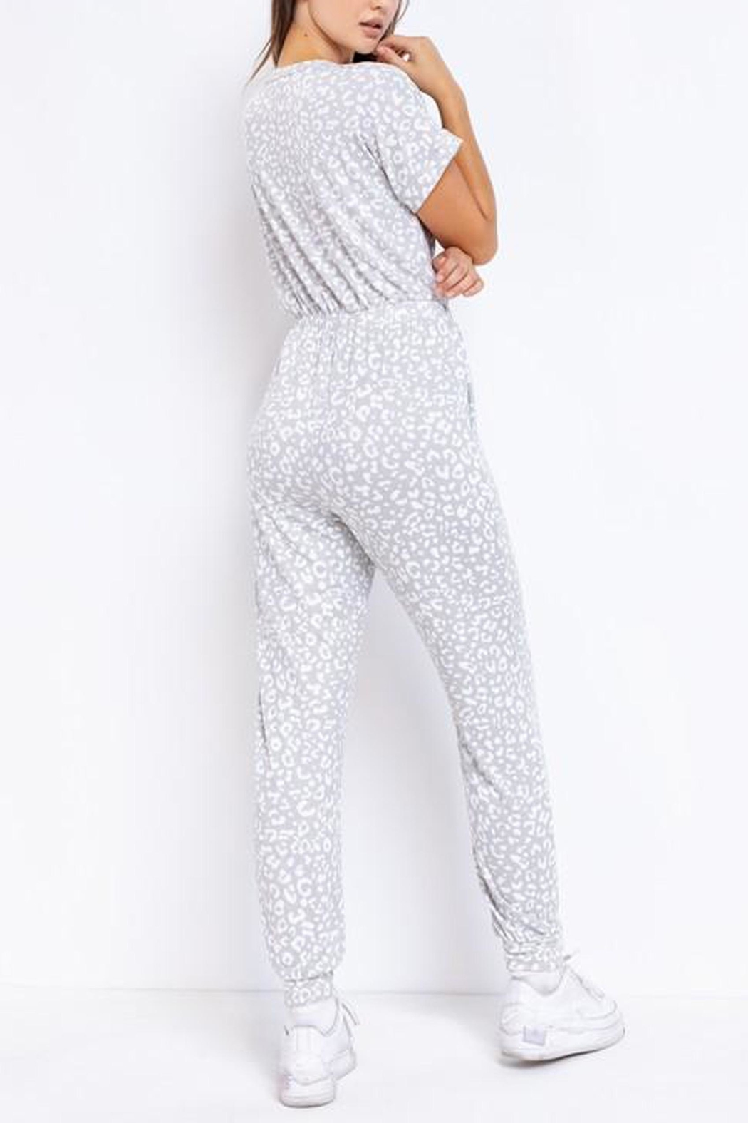 Le Lis Leopard Lounge Jumpsuit - Side Cropped Image