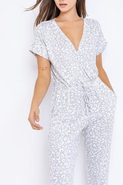 Le Lis Leopard Lounge Jumpsuit - Front full body