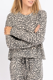 Le Lis Leopard Lounge Top - Front full body