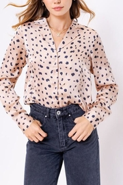Le Lis Leopard Print Satin-Top - Side cropped