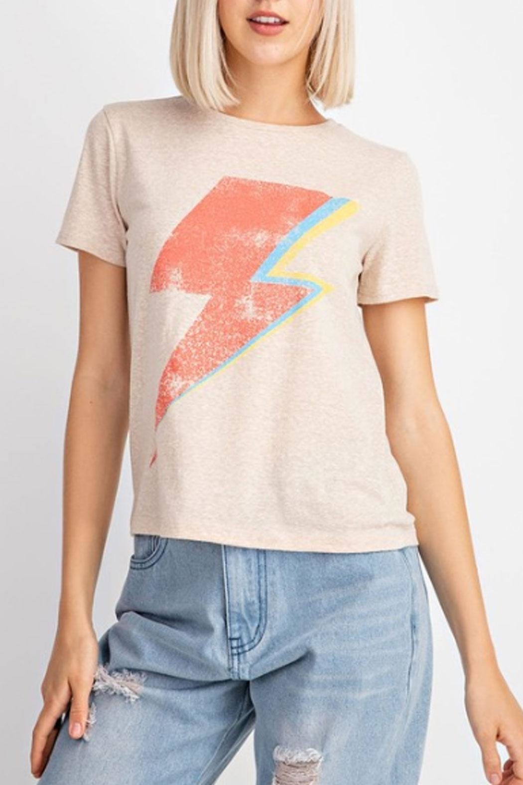 Le Lis Lightening Bolt T-Shirt - Front Full Image