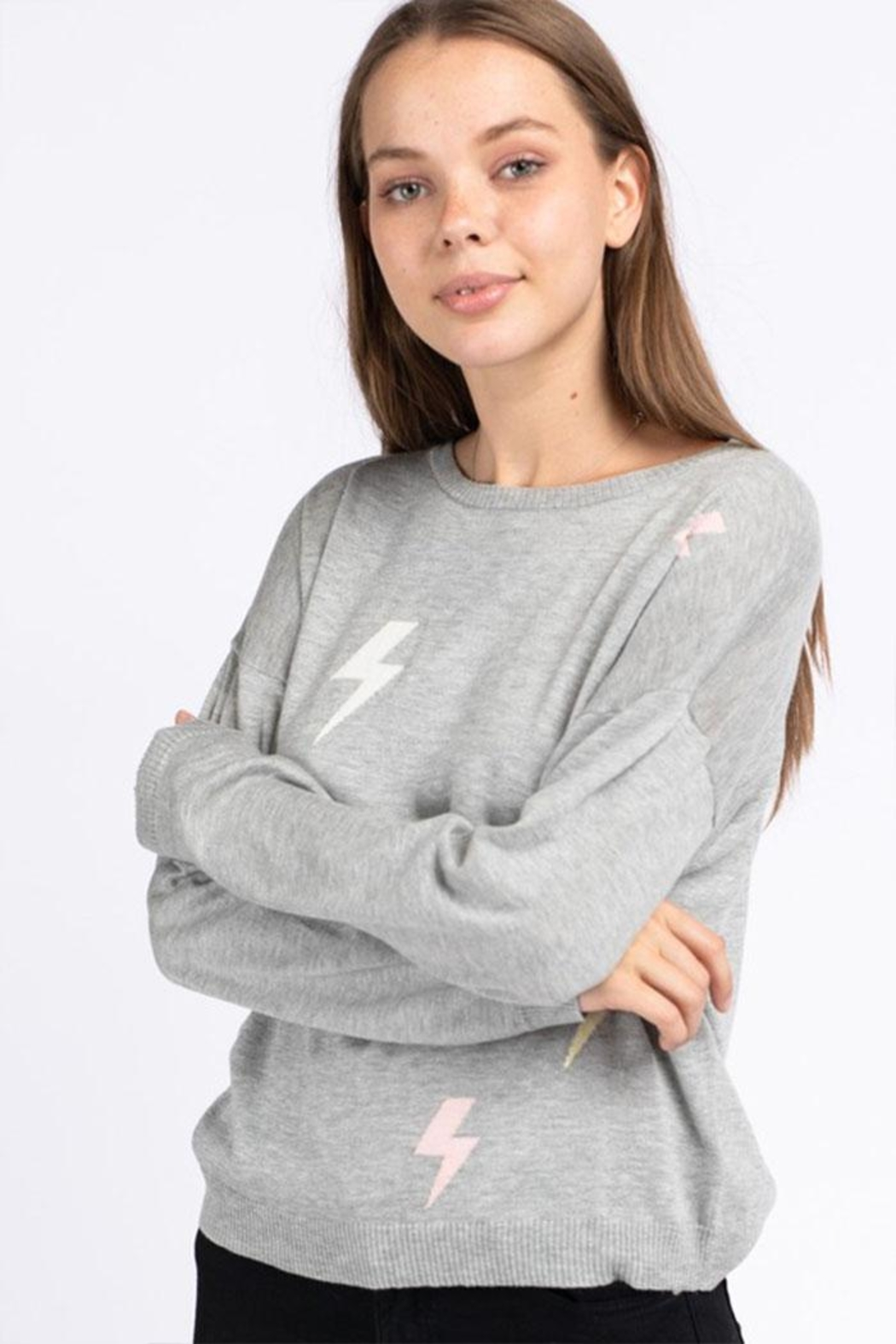 Le Lis Lightning Pullover Sweater - Main Image