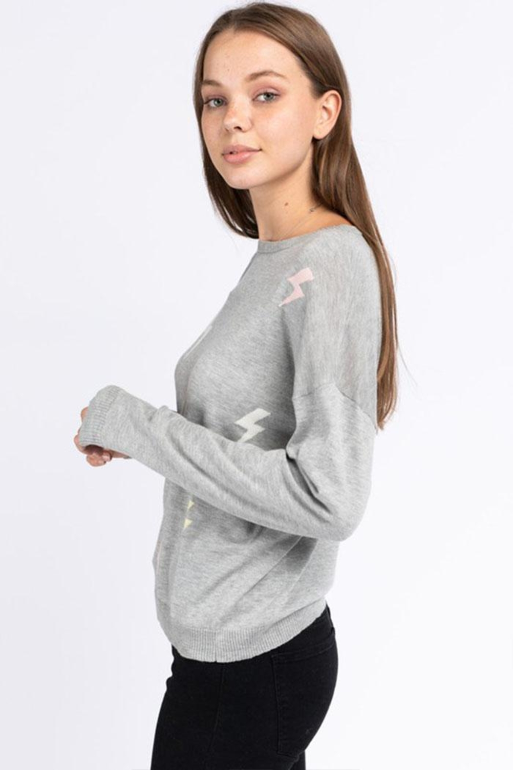 Le Lis Lightning Pullover Sweater - Back Cropped Image