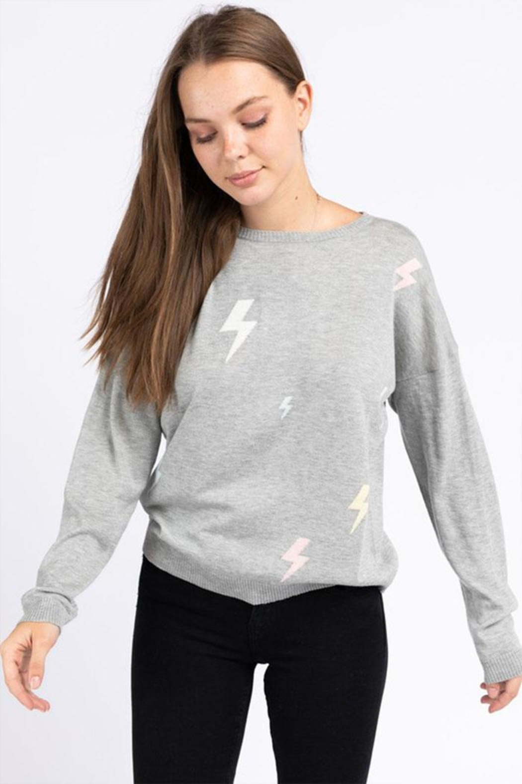 Le Lis Lightning Pullover Sweater - Side Cropped Image