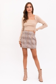 Le Lis Long Sleeve Criss Cross Back Knit Top - Front cropped