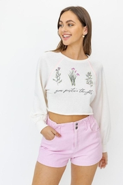 Le Lis Long-Sleeve Graphic Sweater - Front full body