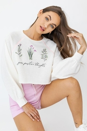 Le Lis Long-Sleeve Graphic Sweater - Product Mini Image