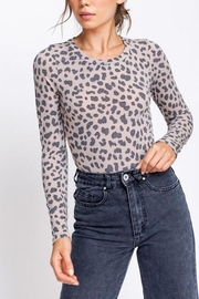 Le Lis Long-Sleeve Leopard Bodysuit - Product Mini Image