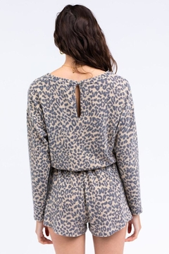 Le Lis Long Sleeve Romper With Drawstring And Keyhole - Alternate List Image