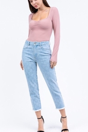 Le Lis Long Sleeve Square Neck Bodysuit - Product Mini Image