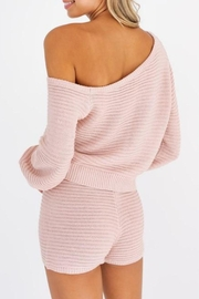 Le Lis Maisie Sweater Shorts - Back cropped