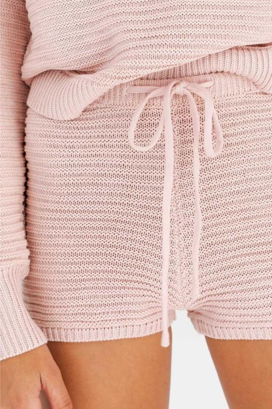 Le Lis Maisie Sweater Shorts - Front Full Image