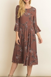 Le Lis Marsala Bell Sleeves - Front cropped