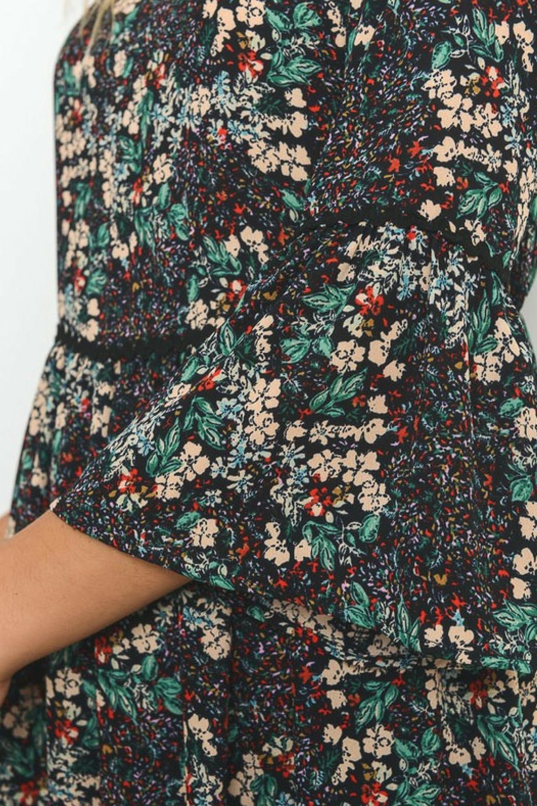 Le Lis Micro Floral Dress - Side Cropped Image