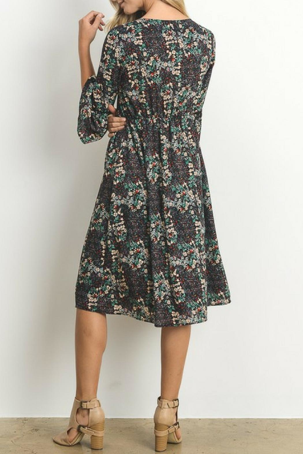 Le Lis Micro Floral Dress - Front Full Image