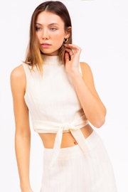 Le Lis Mock Neck Top - Front full body